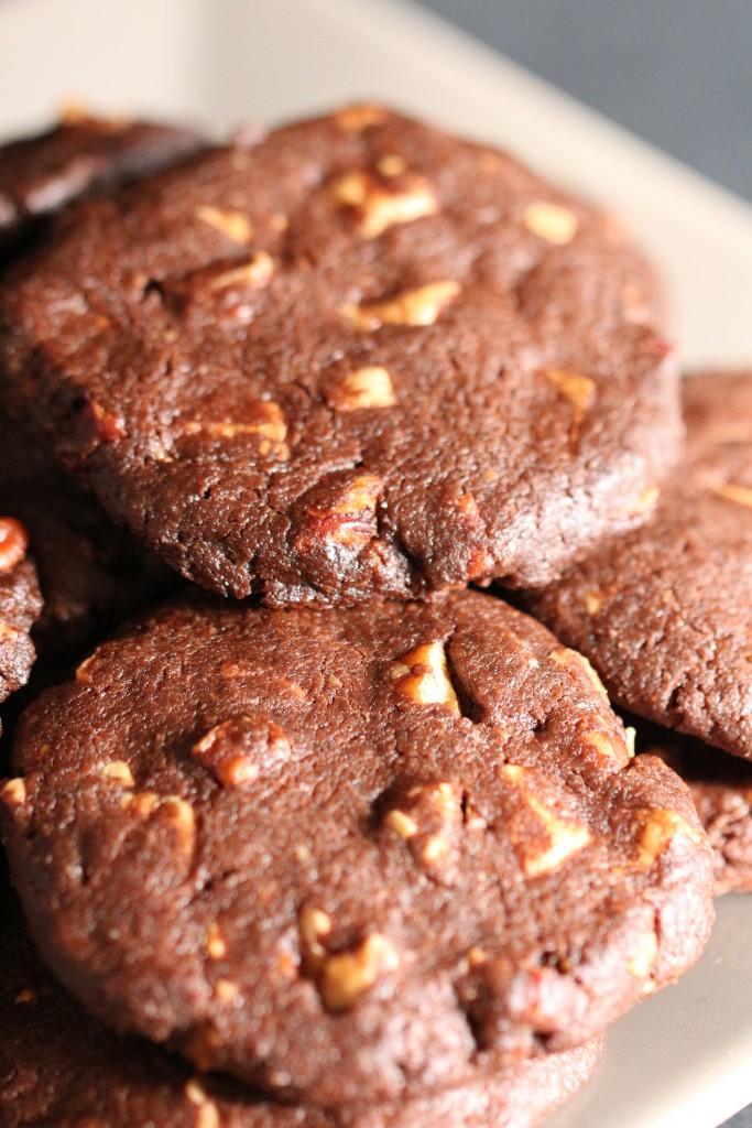 Cookies au Chocolat Noir & Blanc, Noix de Pécan