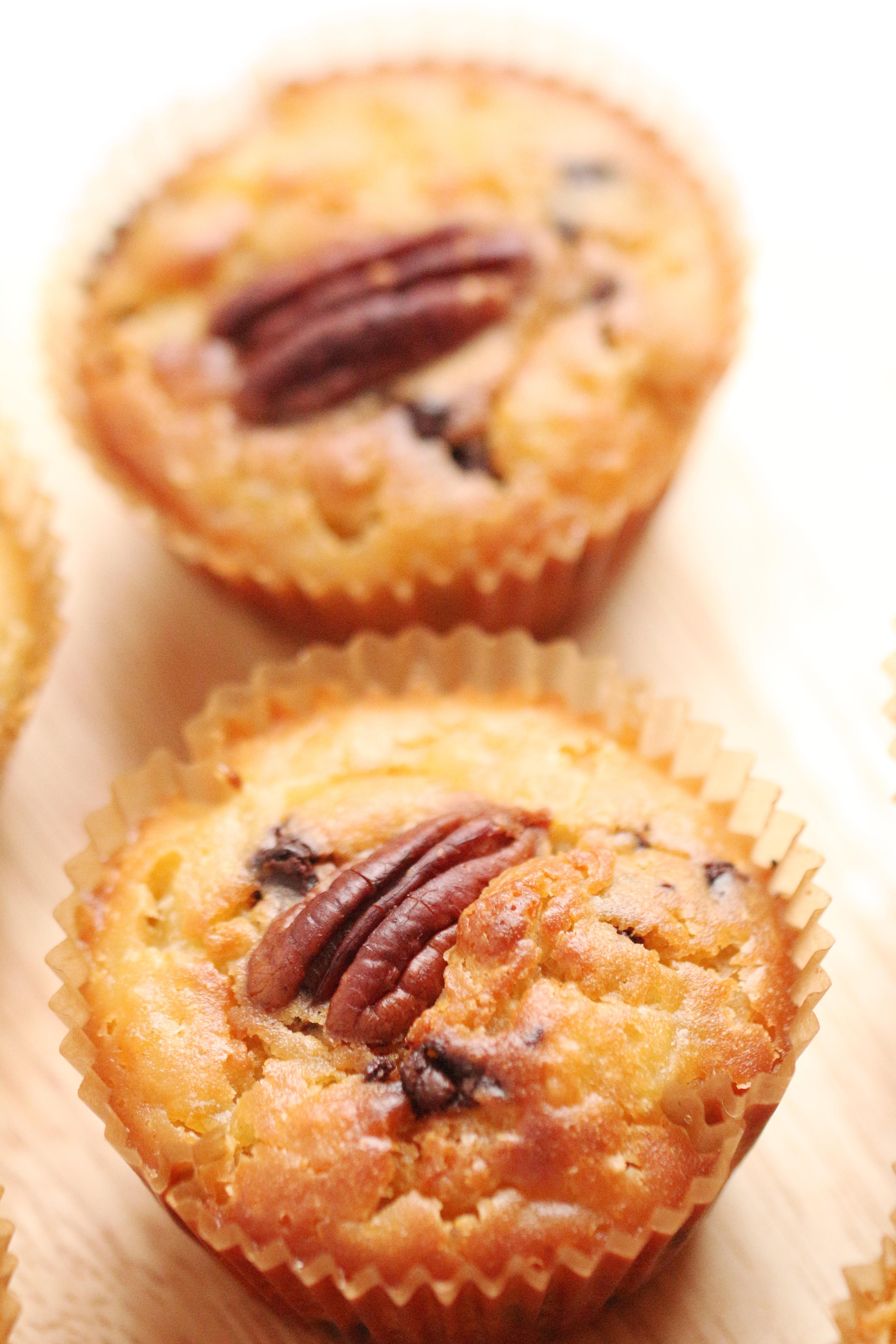 Muffins Poire, Chocolat & Noix de Pécan