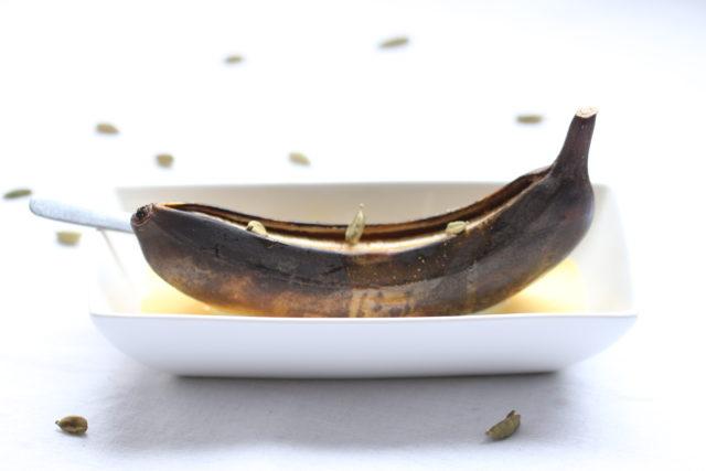 Bananes Rôties au Gingembre, Crème anglaise à la Cardamome 2