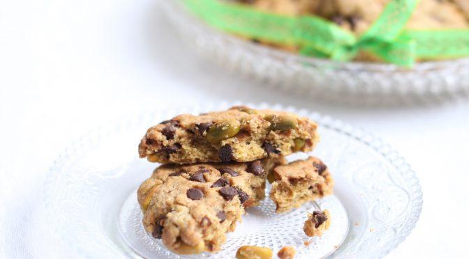 Cookies au Chocolat Noir & Pistaches