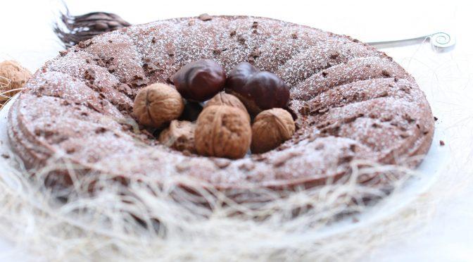 Couronne Fondante Chocolat, Crème de Marrons & Noix
