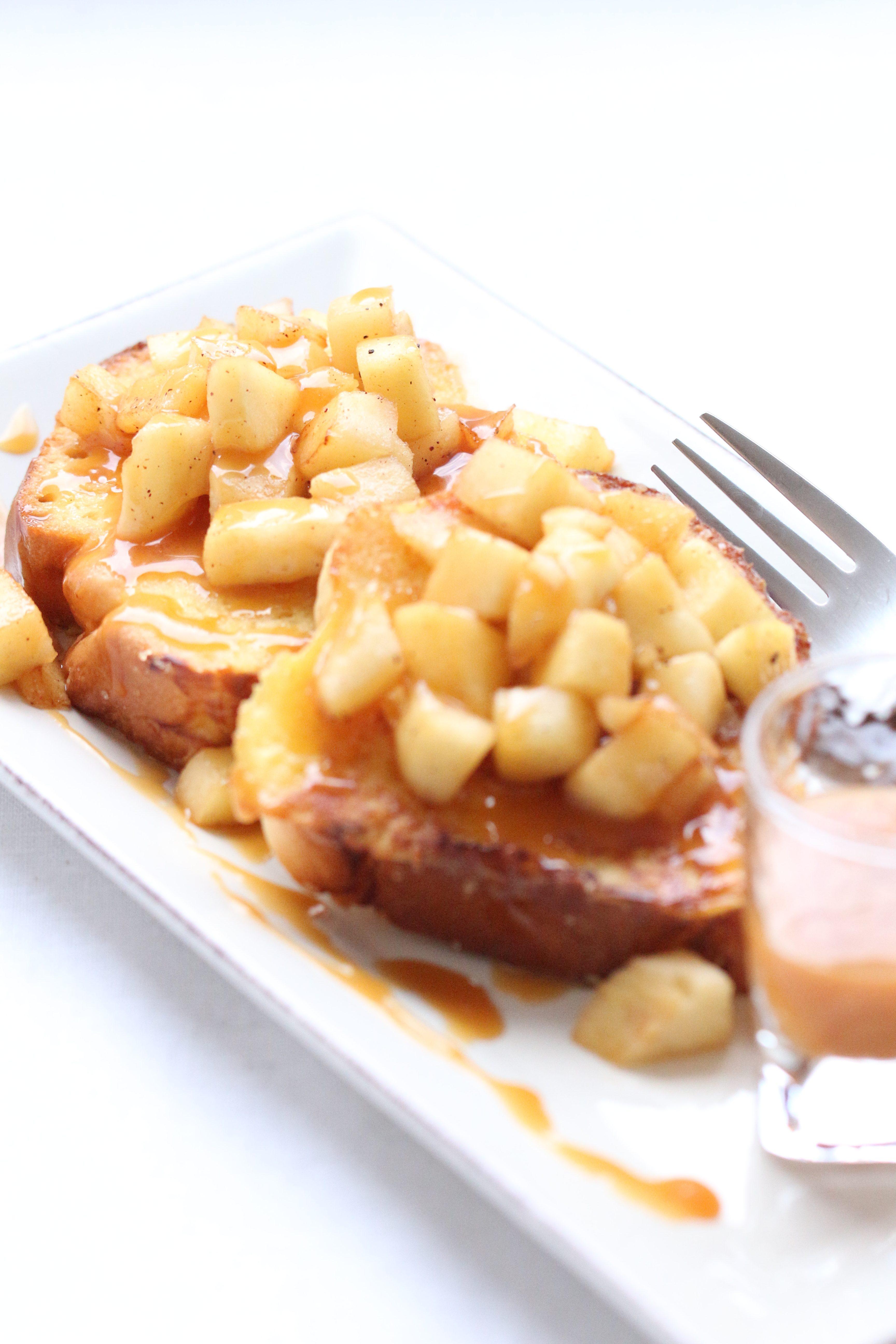 Brioche Perdue aux Pommes, Caramel au Beurre Salé