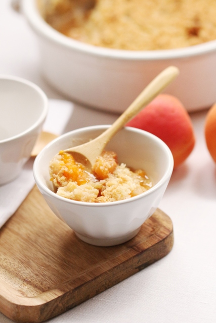Crumble Pêches, Abricots & Amandes3